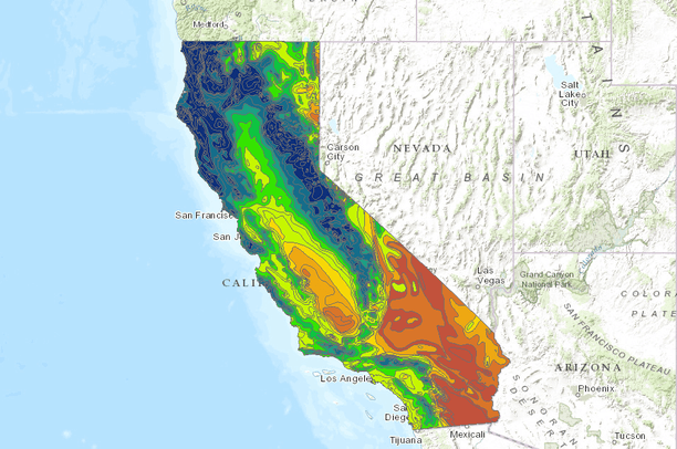Average annual precipitation for California, USA (1900-1960) | Data on