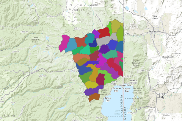 California Watershed Map on