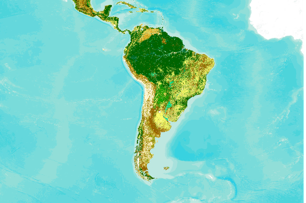 Land Cover Central And South America Globcover 2009