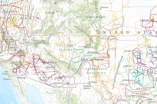 Military Training Routes