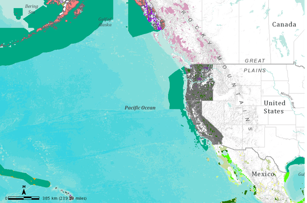 Marine and terrestrial protected areas of the Northeastern ... Pacific Ocean Underwater Map