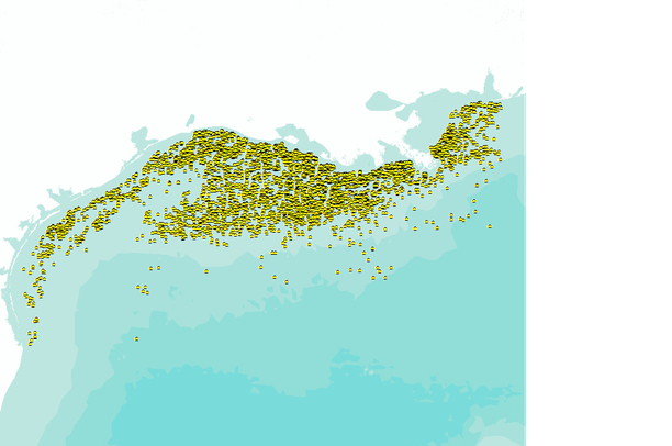 Gulf of Mexico Oil Drilling Platforms   Data Basin Map Of Oil Rigs In The Gulf Mexico on