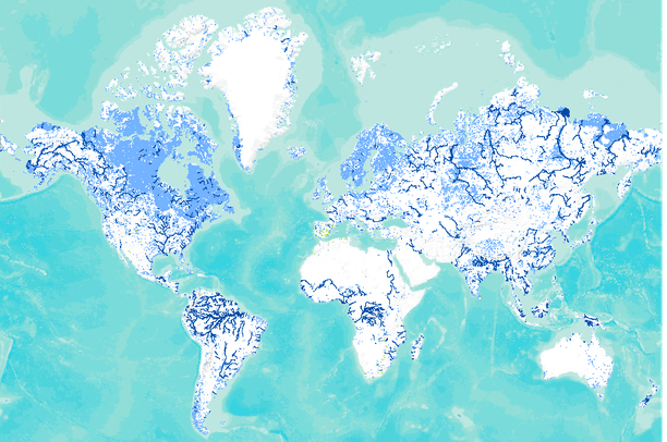 Global Lakes and Wetlands Database Level 2 small lakes and