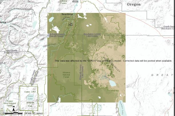 Eastern Oregon Historical Vegetation Types Carbon Density And Fire