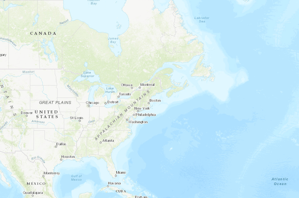 Terrestrial Habitat Map For The Northeast US And Atlantic Canada - Map of northeastern us and canada