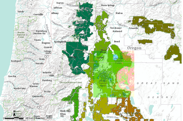 Eastern Oregon Study Site Extent Wwetac Project 2011 Data Basin