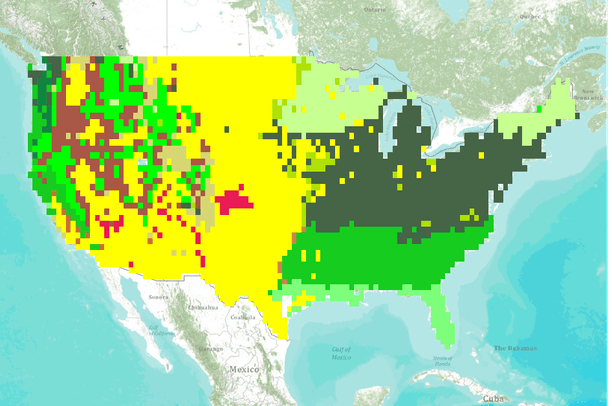 Vegetation Type for the Conterminous United States Simulated ...
