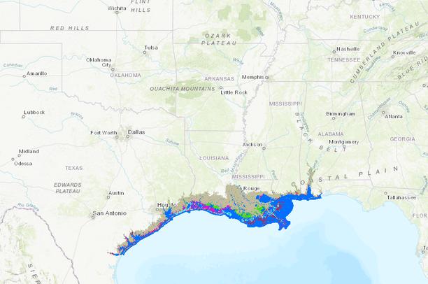 Corpus Christi Map Of Texas.Marsh Types From Corpus Christi Bay Texas To Perdido Bay Alabama