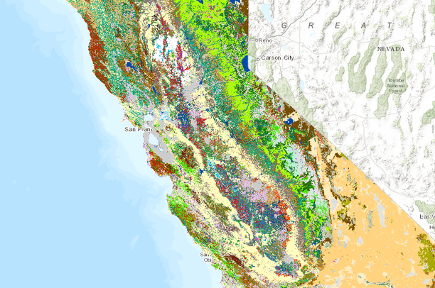 Land Cover and Agriculture in Californias Central Valley Data Basin
