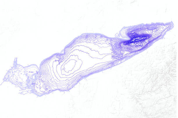 topographic map of lake erie Lake Erie Bathymetric Contours Depth In Meters Data Basin