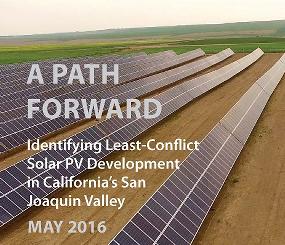San Joaquin Valley Least Conflict Solar Analysis - A Path Forward