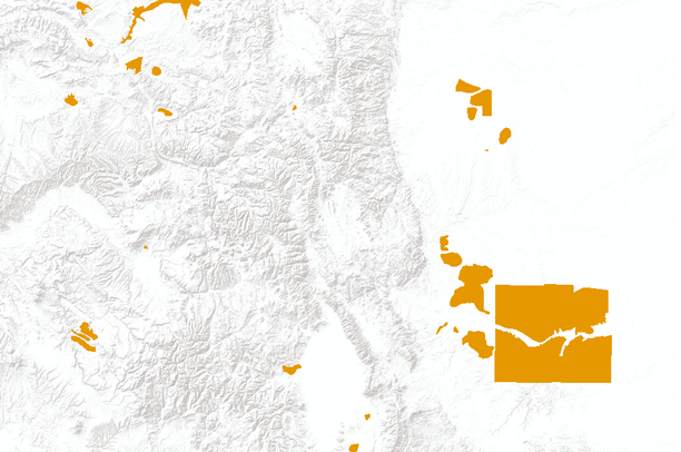 Pronghorn Antelope Resident Population Area in Colorado ...