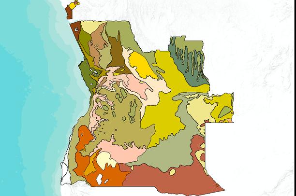Africa Map Angola.Safari 2000 Nbi Vegetation Map Of The Savannas Of Southern Africa
