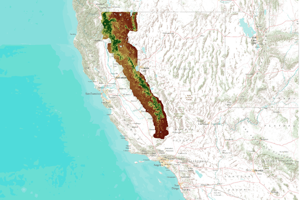 MC1 Simulation Results for the Sierras (CA) - multiscale (Yale)