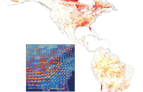 Projecting dispersal corridors for climate-change-driven range shifts Thumbnail