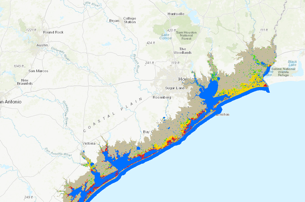 Marsh types from Corpus Christi Bay, Texas, to the Sabine ... on chattahoochee river map, wabash river map, united states river map, brazos river map, rio negro river on a map, ohio river map, guadalupe river map, bayou lafourche map, st. johns river map, calcasieu river map, colorado river map, dallas river map, trinity river map, pecos river map, galveston bay river map, tennessee river map, san joaquin river on a map, james river map, arkansas river map, willamette river map,