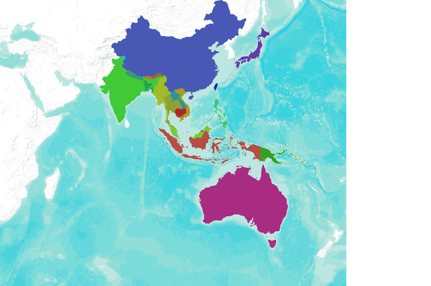 Country boundaries of Southeast Asia | Data Basin