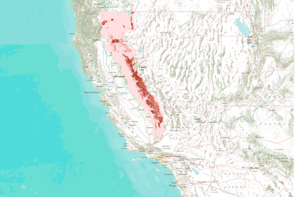 Projected Future American Marten Distributions in the Sierra Nevada