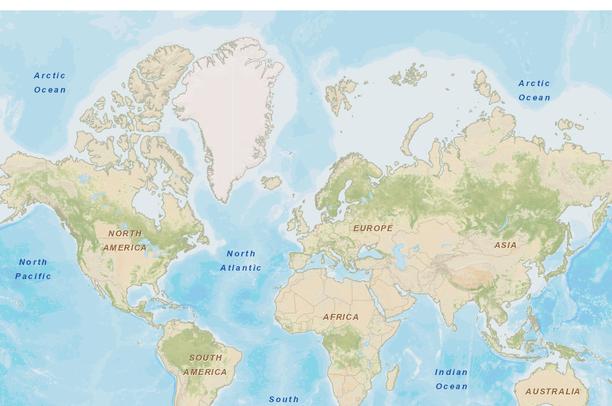 Street World Map.World Street Map Data Basin