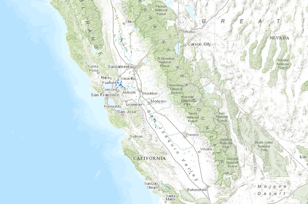 Map Of California Central Valley.California Central Valley Wetlands And Riparian 5 Classes Data Basin