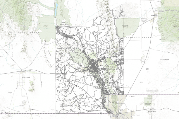 TIGER/Line Shapefile, 2010, county, Doña Ana County, NM, All Roads