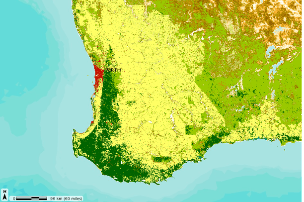 Australia Map Vegetation.Western Australia Vegetation Cover Data Basin
