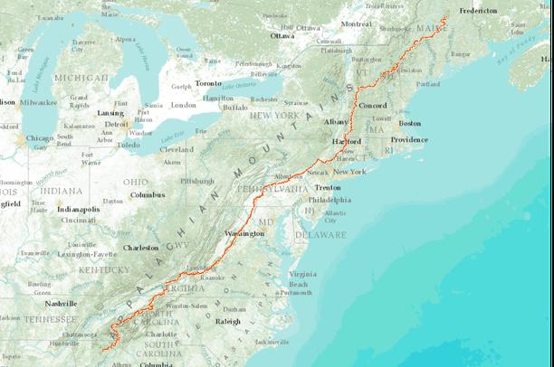 Appalachian National Scenic Trail Centerline Data Basin