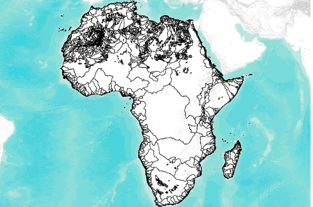 HydroSHEDS (BAS) - Africa drainage basins (watershed