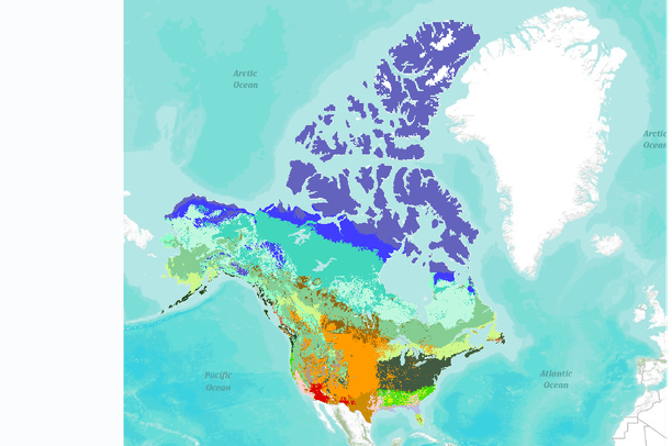 Vegetation Type for the United States and Canada Simulated for the