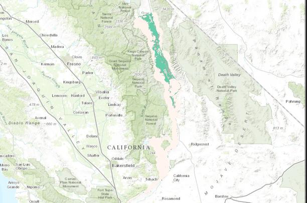 Owens Valley Checkerbloom Species Distribution Model Drecp Data