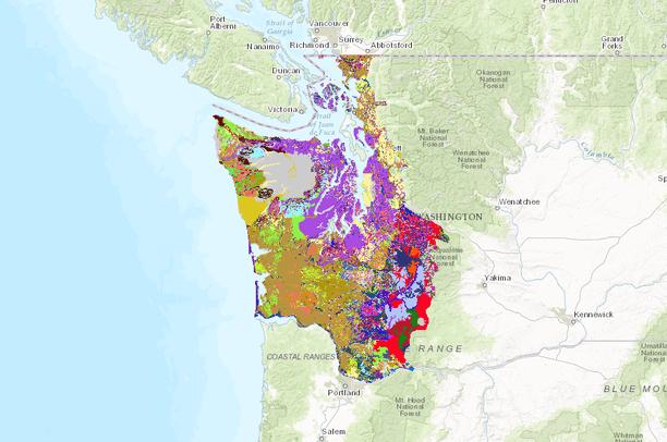 Soil texture western Washington | Data Basin