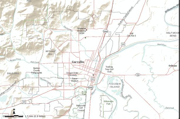 Corvalis Oregon Map.Community Garbage Map For Corvallis Oregon Data Basin