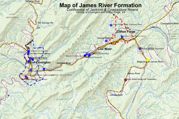 James River Map Formation of James River, VA | Data Basin
