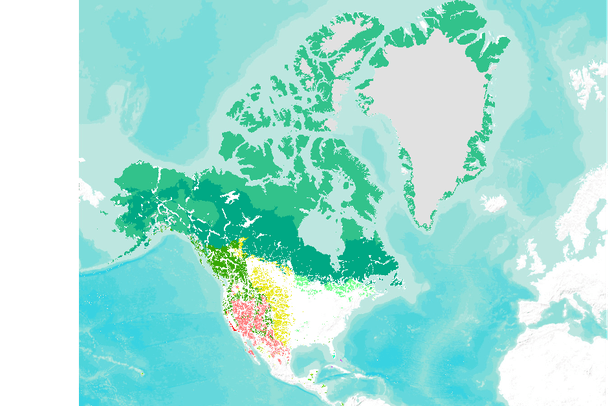 Biomes Of North America Map.Last Of The Wild Terrestrial Biomes North America 2005 Data Basin
