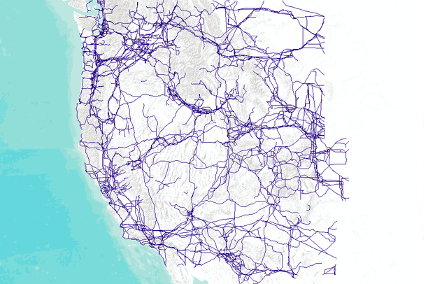 Power Lines & Pipelines of the USA