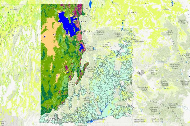 BLM Grazing Allotments and Vegetation in Utah | Data Basin