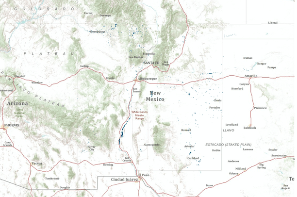 Wetlands and deepwater habitats in the state of New Mexico ...