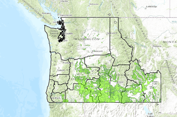 2014 Oregon & Idaho BLM Grazing Allotments In BLM Districts | Data on