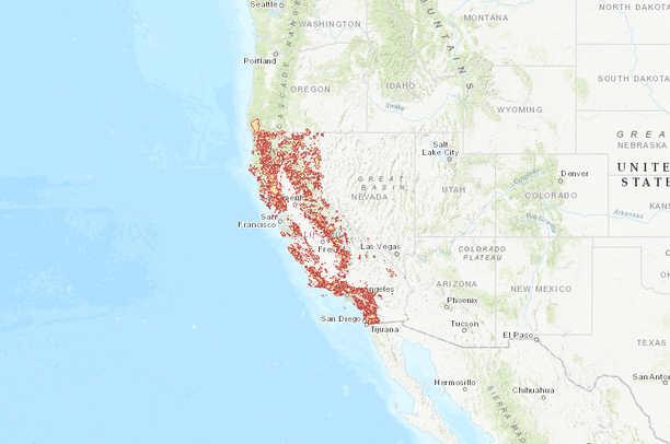 California, USA Fire History from 1950 to 2007 | Data Basin