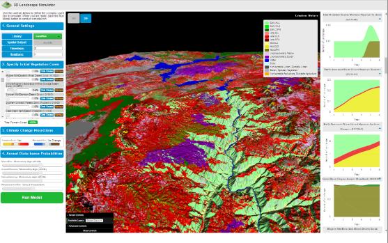Screenshot of the Landscape Simulator