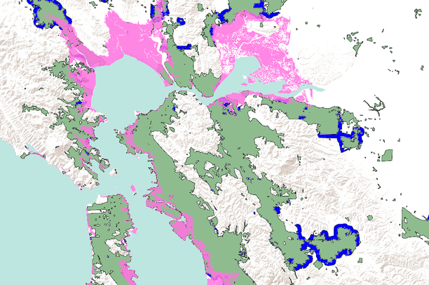 North San Francisco Bay Area Urban Growth Scenarios 2020 And 2050 With High Sea Level Rise Projection Data Basin Pdf document (275 kb) gif image (186 kb). north san francisco bay area urban