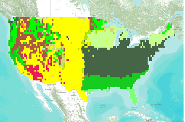 Vegetation Type for the Conterminous United States Simulated for ...