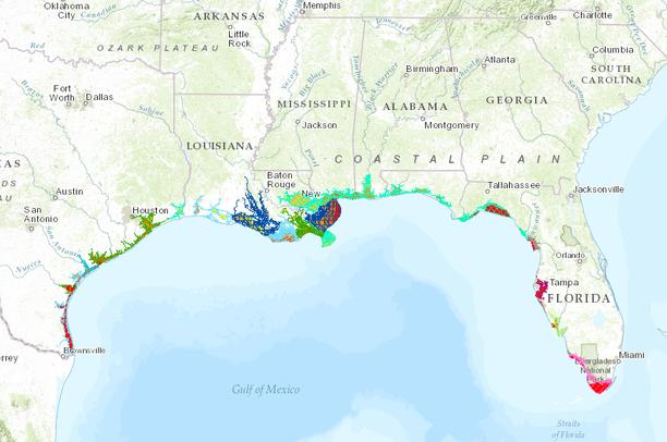 Dynamic Five-Zone Salinity Scheme - Gulf of Mexico   Gulf Coastal ...