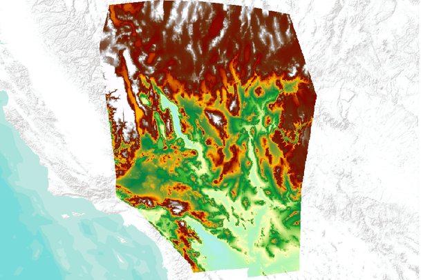 Map Of Nevada And Arizona Usa.Elevation Used In Modeling Habitat Of The Desert Tortoise Gopherus