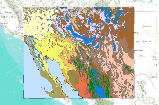 Map Of Southwest Arizona.Brown And Lowe S Biotic Communities Of The Southwest Data Basin
