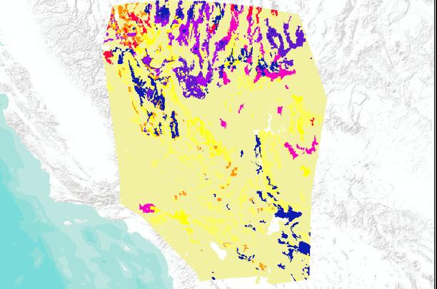 Map Of Nevada And Arizona Usa.Percent Rocks Used In Modeling Habitat Of The Desert Tortoise