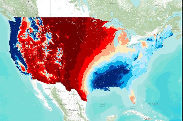 Winter precipitation (DJF) for 1992-2008 based on PRISM data ...