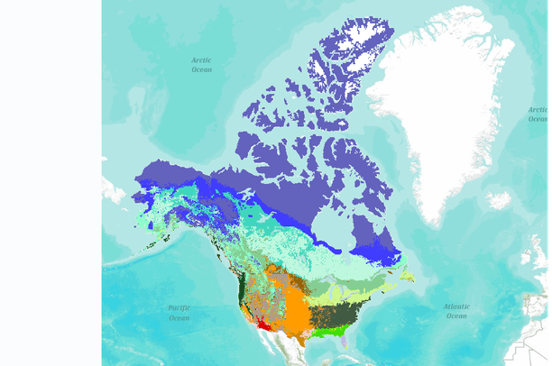Vegetation Type for the United States and Canada Simulated for ...