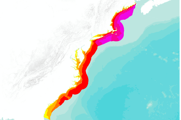Annual Average Offshore Wind Speed Ms For The Atlantic Coast - Us average wind speed map