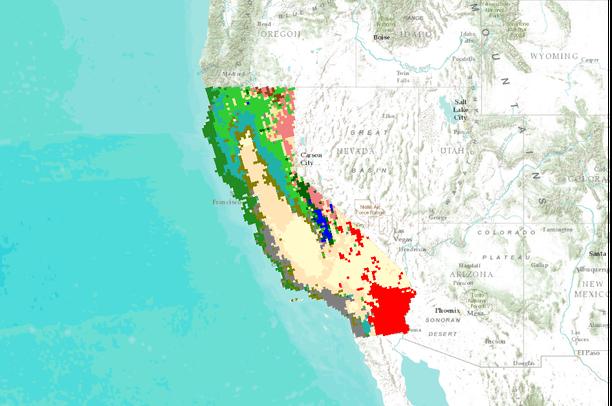 MC1 Simulation Results California - 10km spatial grain